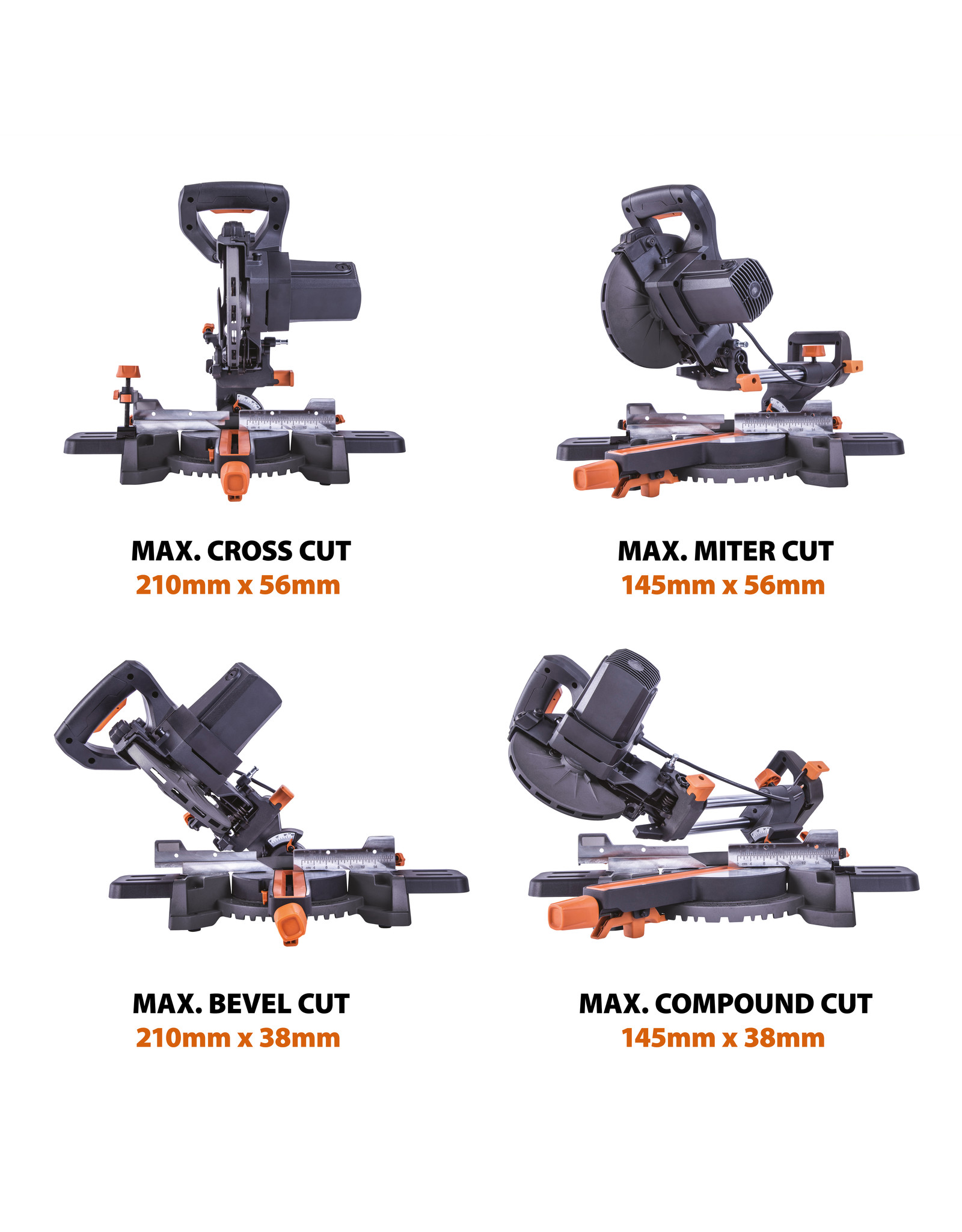 Evolution Power Tools Build Line SCIE A ONGLET RAGE R185SMS+