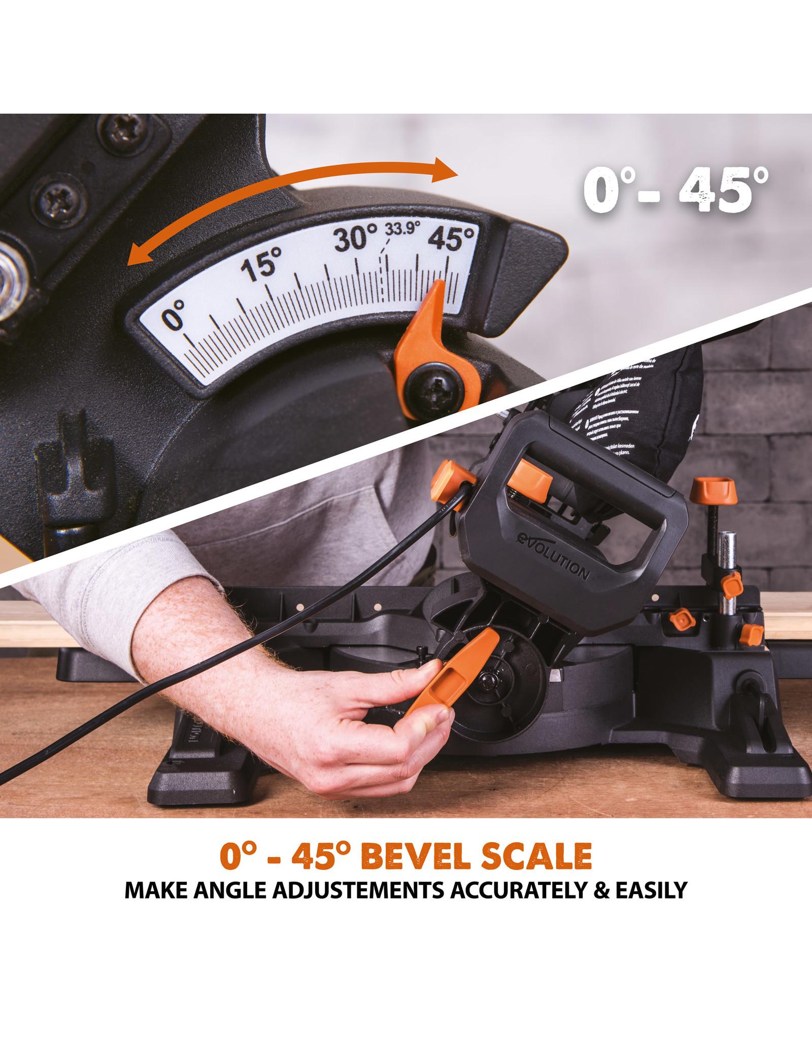 Evolution Power Tools Build Line MEHRZWECK-GLEIT GEHRUNGSSÄGE RAGE - R210 SMS-300+