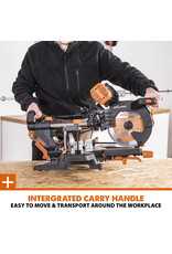 Evolution Power Tools Build Line MULTIPURPOSE MITRE SAW -  R255SMS-DB+ +FREE SAW BLADE FOR WOOD