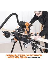 Evolution Power Tools Build Line DOPPELSCHRÄGGEHRUNGSSÄGE MIT MEHREREN MATERIALIEN RAGE - R255SMS-DB+