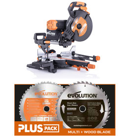 Evolution Power Tools Build Line DOPPELSCHRÄGGEHRUNGSSÄGE RAGE - R255SMS-DB+