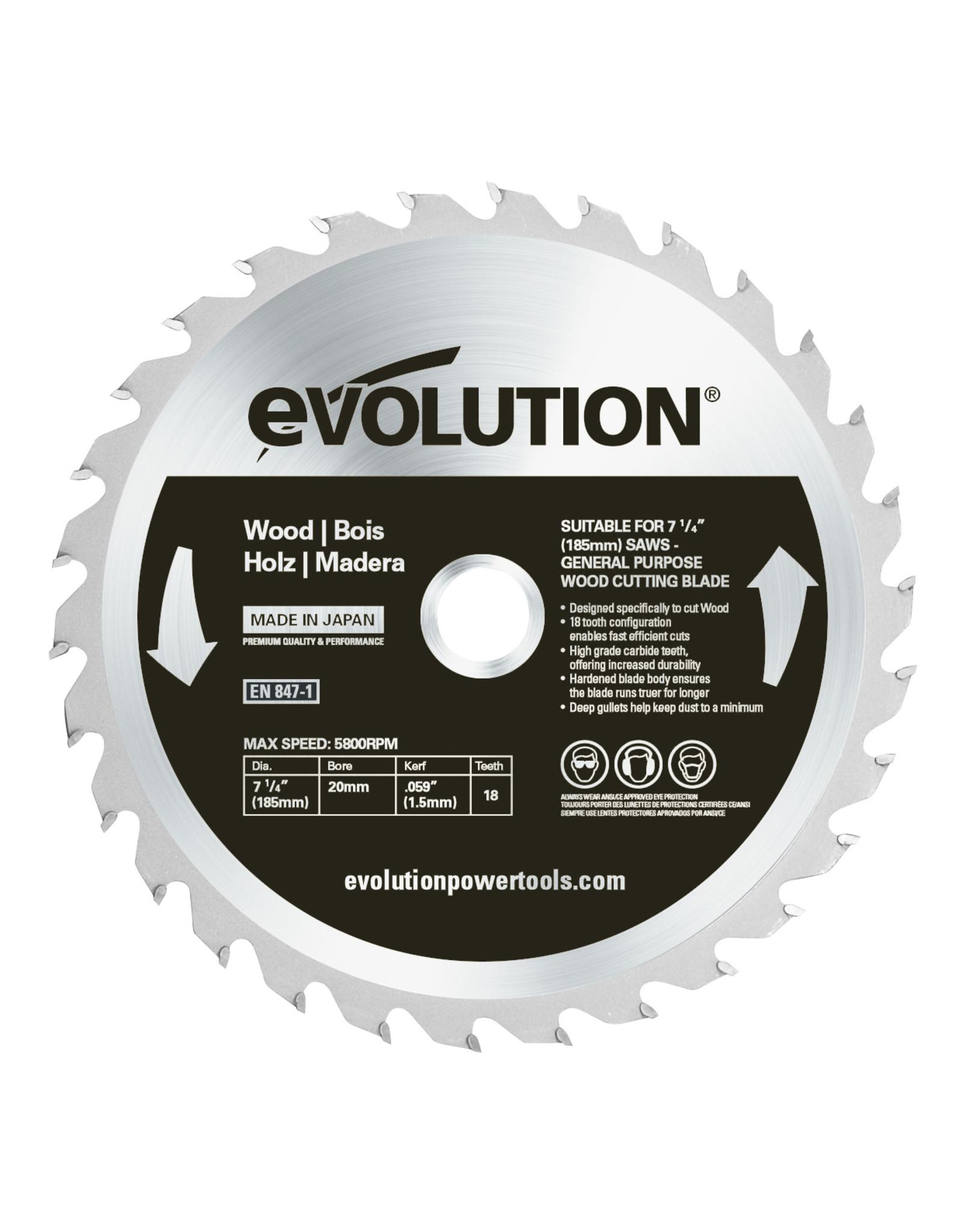 Evolution Power Tools Build Line SAW BLADE WOOD 185 MM