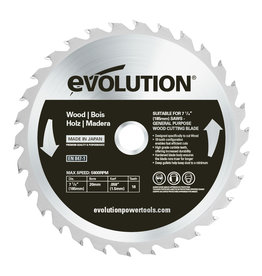 Evolution Power Tools Build Line Saw blade Wood 185 mm - CS