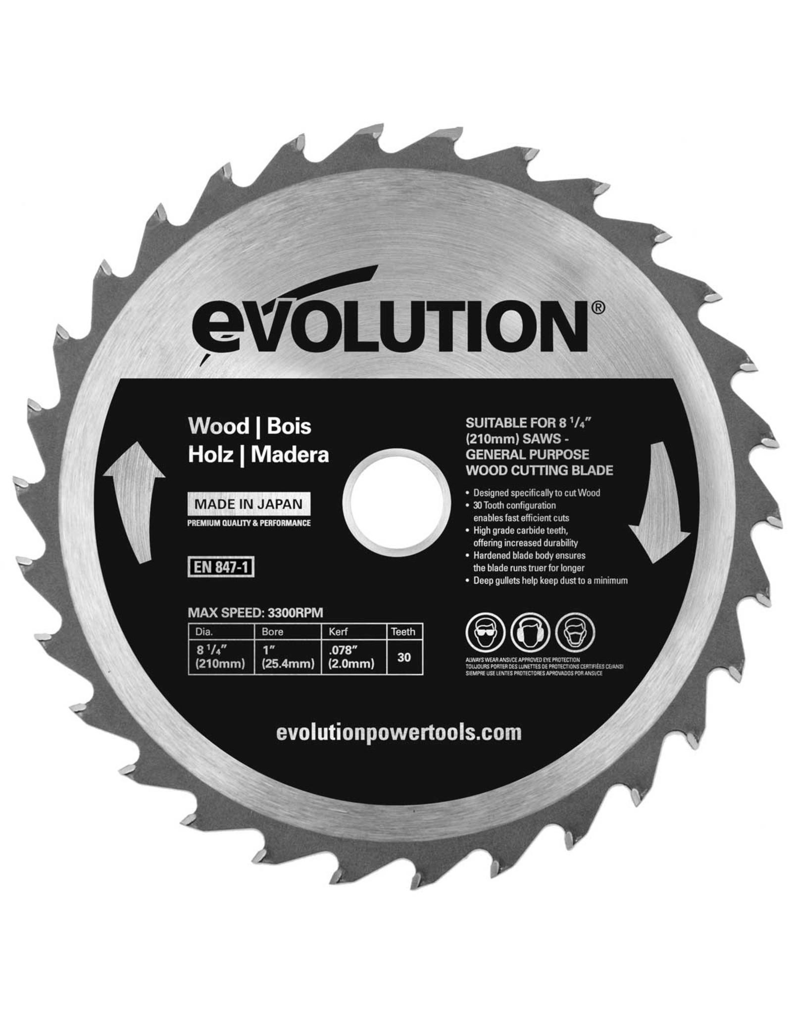 Evolution Power Tools Build Line SAW BLADE WOOD 210 MM
