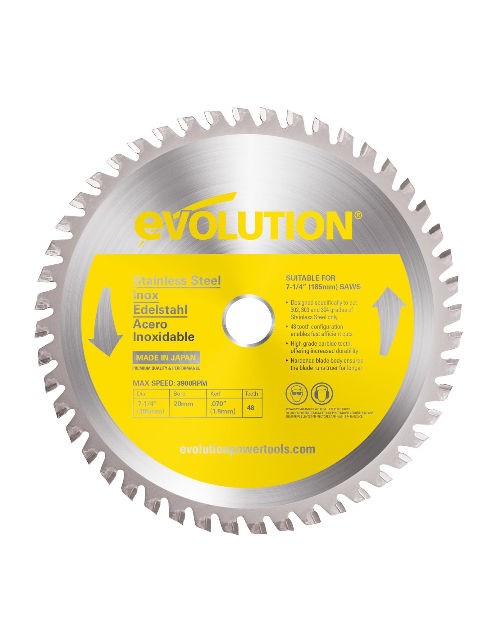 Evolution Power Tools Steel Line LAME INOX 185 MM