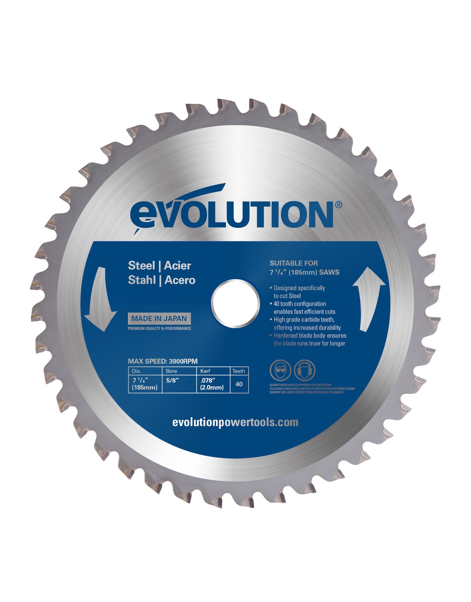 Evolution Power Tools Steel Line SAW BLADE STEEL 185 MM