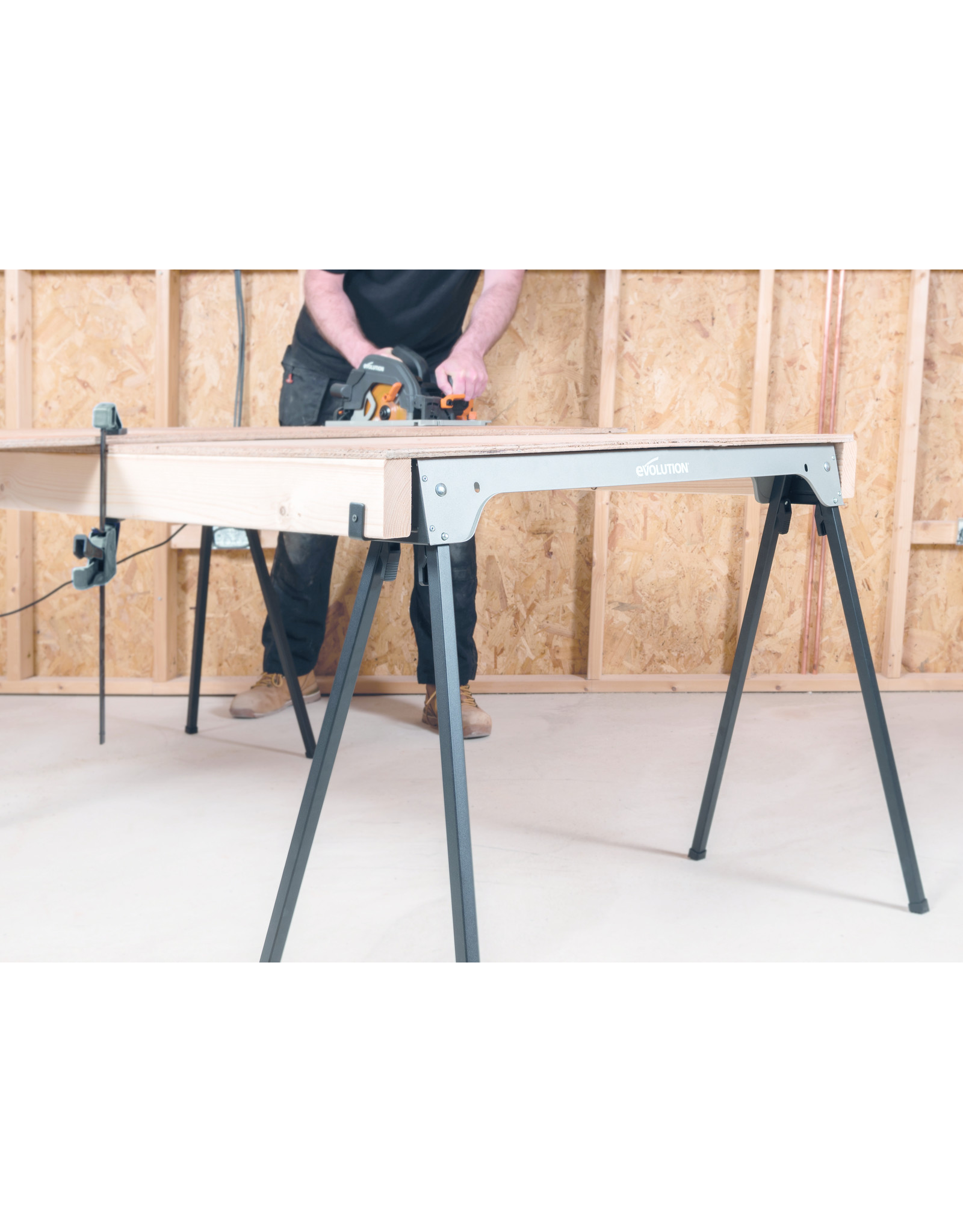 Evolution Power Tools Build Line ZAAGSTANDAARD MET OPVOUWBARE POTEN - SAW HORSE