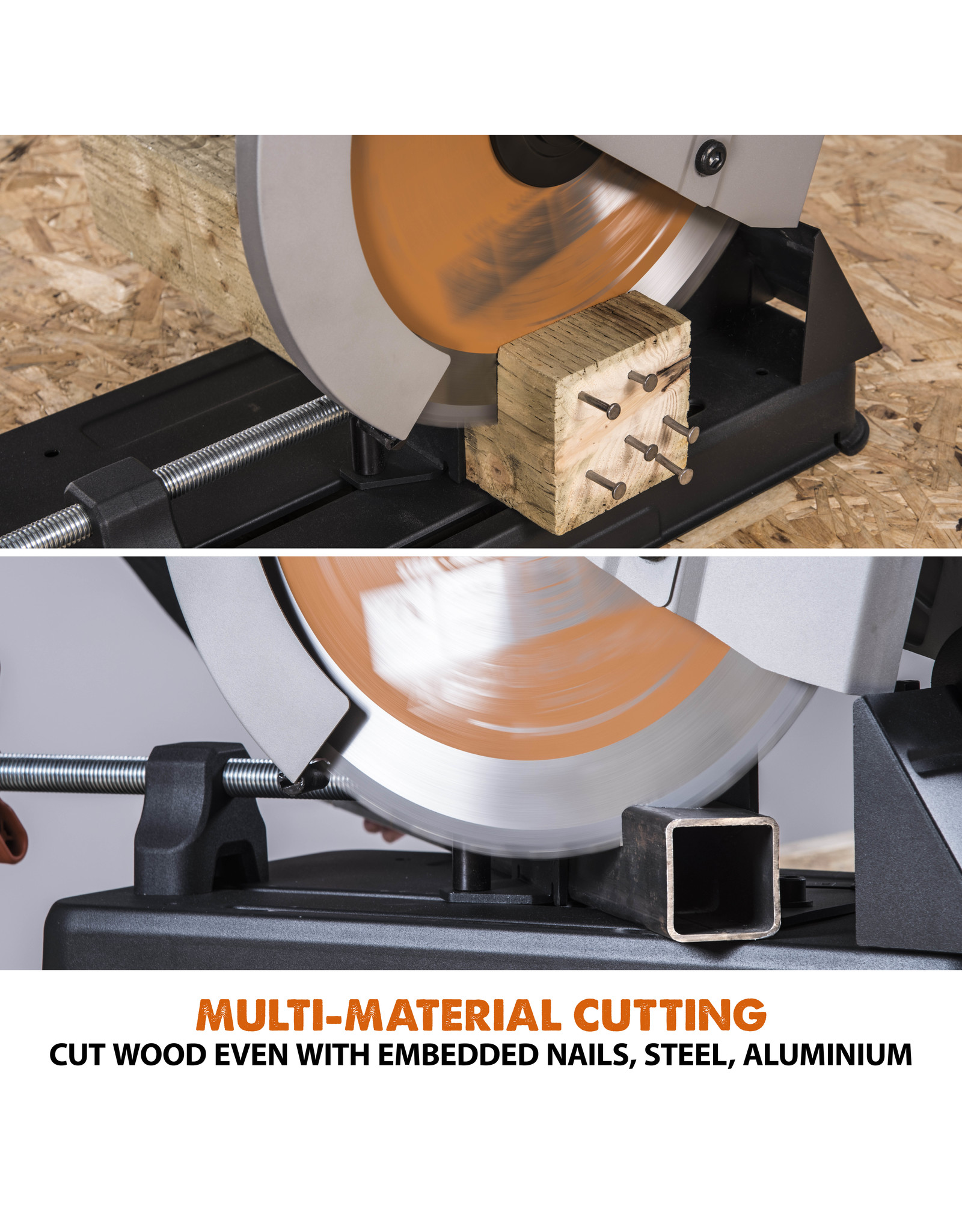 Evolution Power Tools Build Line CROSSCUT SAW RAGE R355CPS + UNIVERSAL CROSSCUT SAW STAND - CHOP STAND