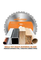 Evolution Power Tools Build Line MULTI-MATERIAL RUNDSÄGE RAGE R185  CCSX+ + MULTI-MATERIAL TCT-KLINGE RAGE 185MM