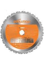 Evolution Power Tools Build Line VEELZIJDIGE VERSTEKZAAG RAGE R210 CMS + MULTIFUNCTIONEEL ZAAGBLAD RAGE 210 MM + DIAMANTBLAD RAGE 210 MM
