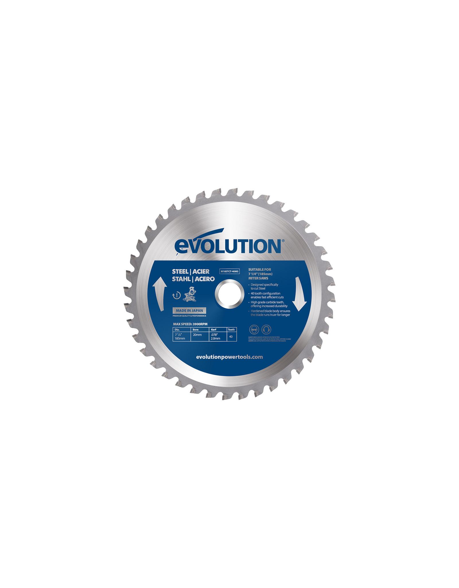 Evolution Power Tools Steel Line STAHL KLINGE 185 MM