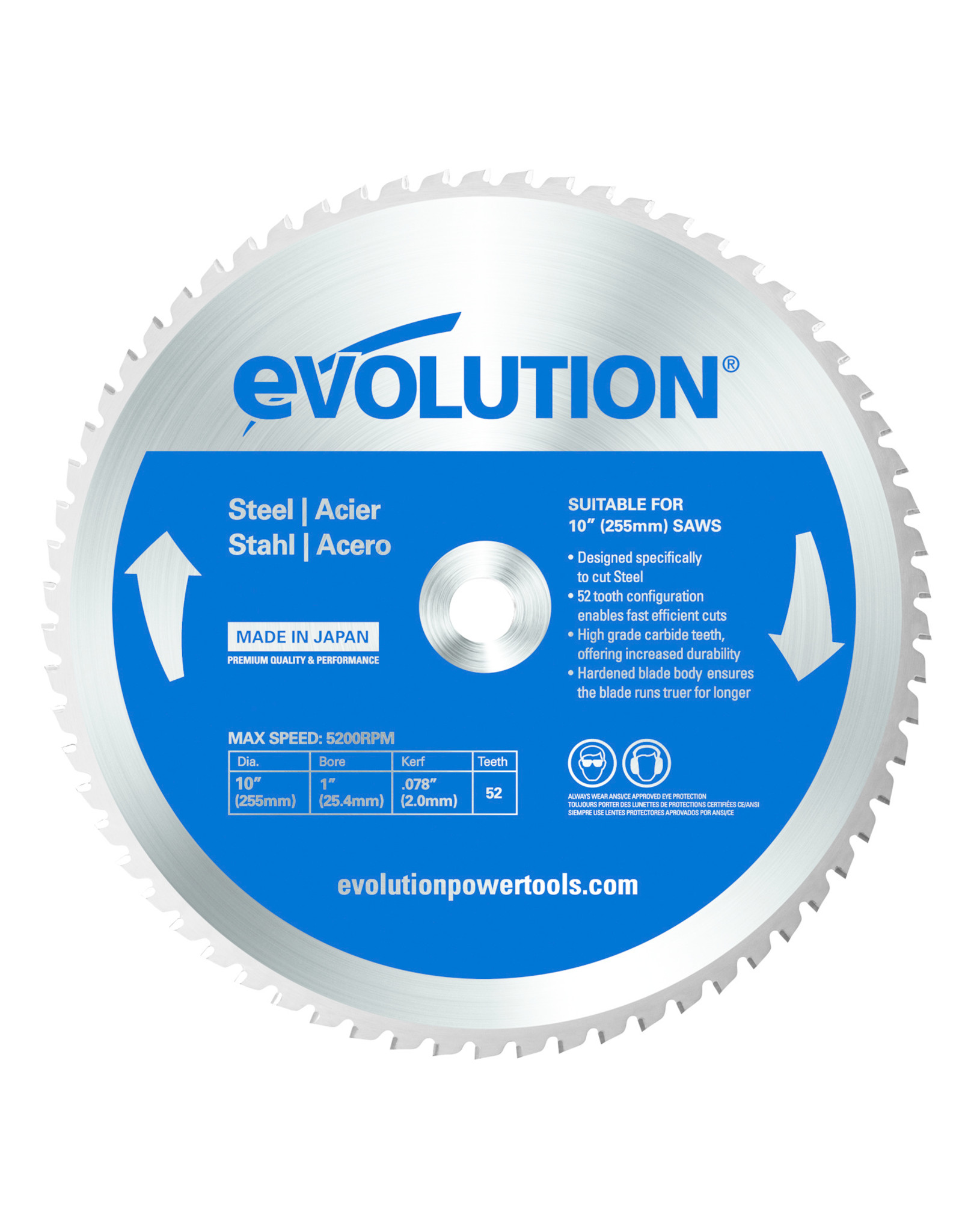Evolution Power Tools Steel Line SAW BLADE STEEL 255 MM