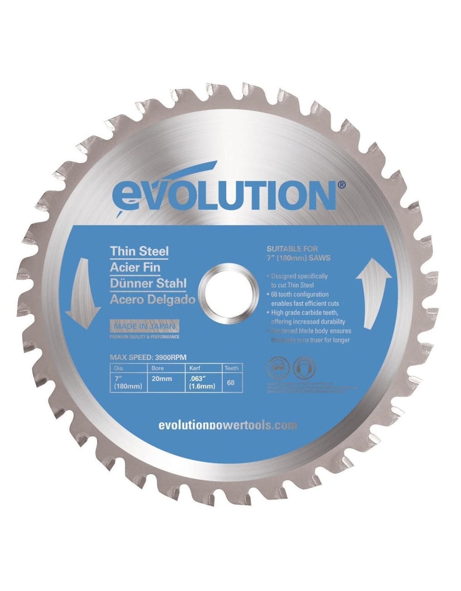 Evolution Power Tools Steel Line LAME DE SCIE ACIER FIN 180 MM