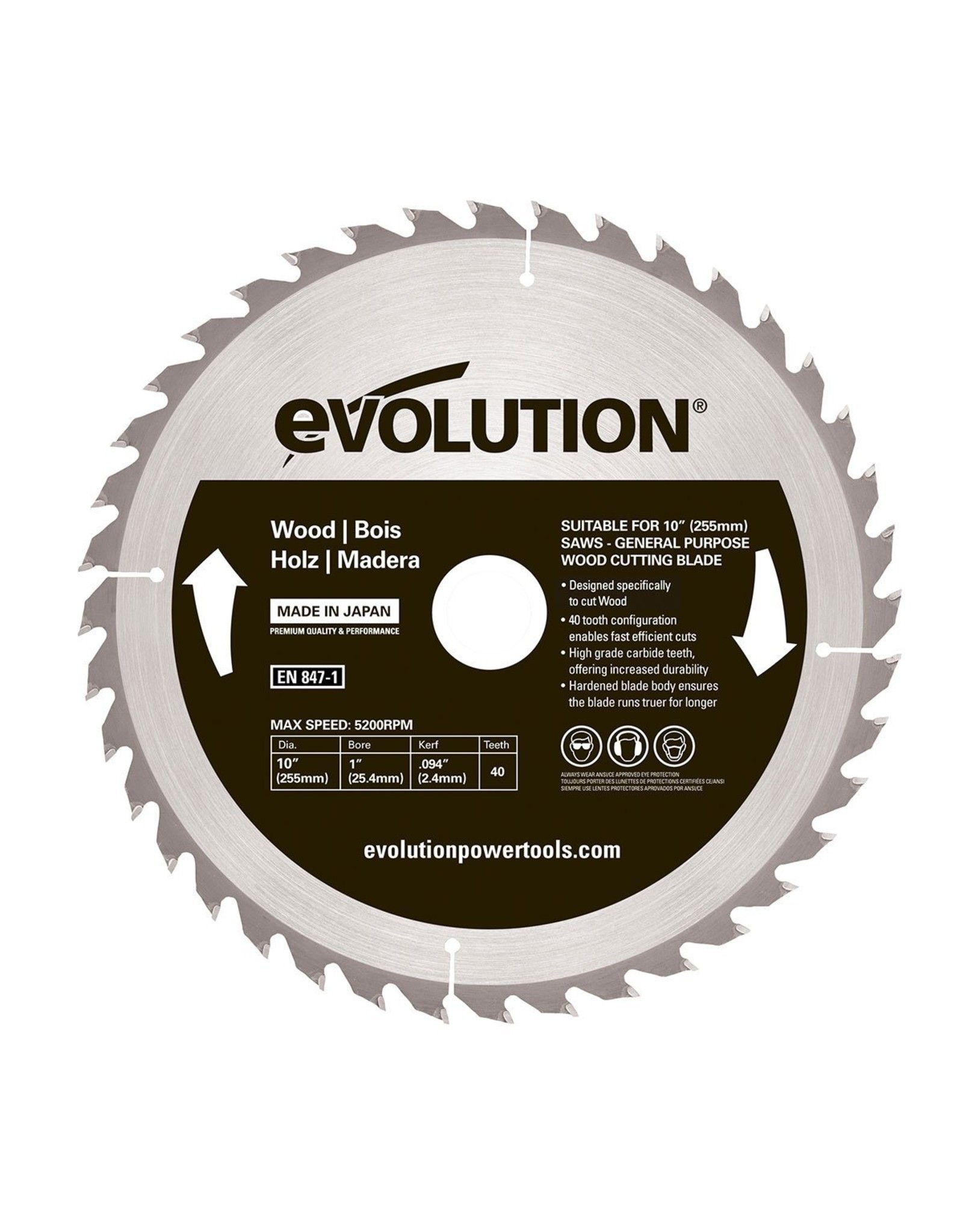 Evolution Power Tools Steel Line SAW BLADE WOOD 355 MM