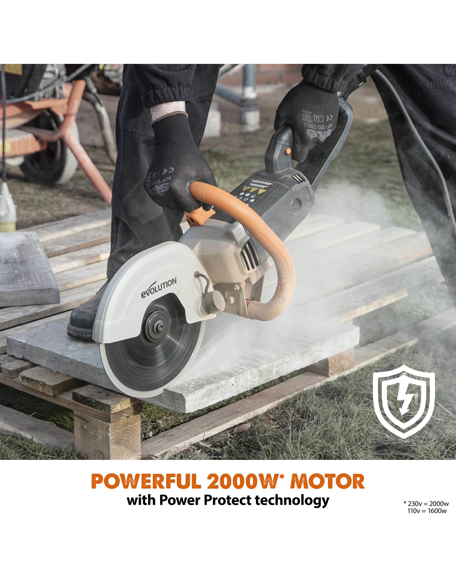 Evolution Power Tools Build Line ELEKTRISCHE BETONSÄGE R230DCT