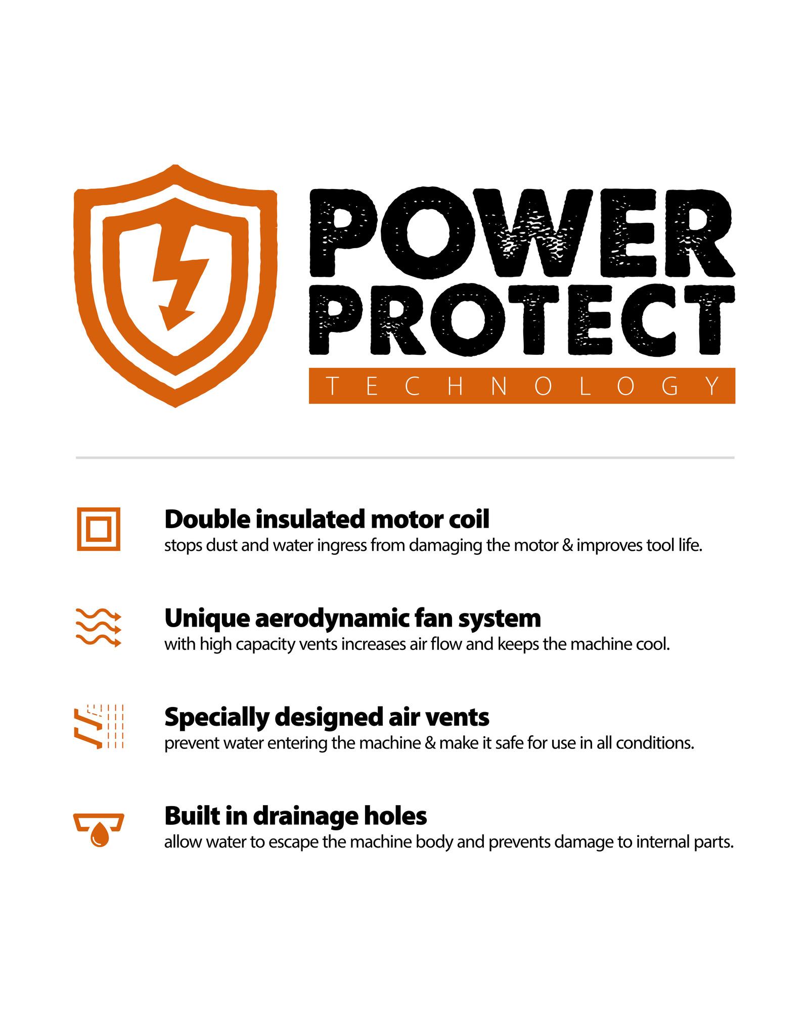 Evolution Power Tools Build Line ELEKTRISCHE SLIJPMACHINE R230DCT