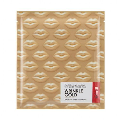 Manefit Bling Bling Wrinkle Gold Hydrogel Mask