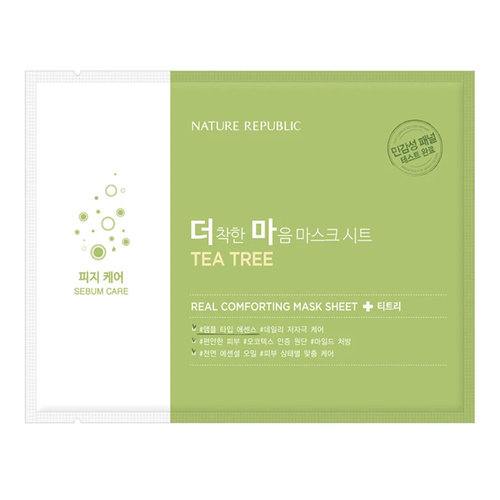Nature Republic Real Comforting Mask Sheet [Tea Tree-20ppm]