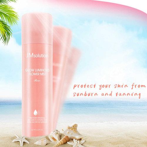 JM solution Glow Luminous Flower Light Sun Spray Rose SPF50+ PA++++