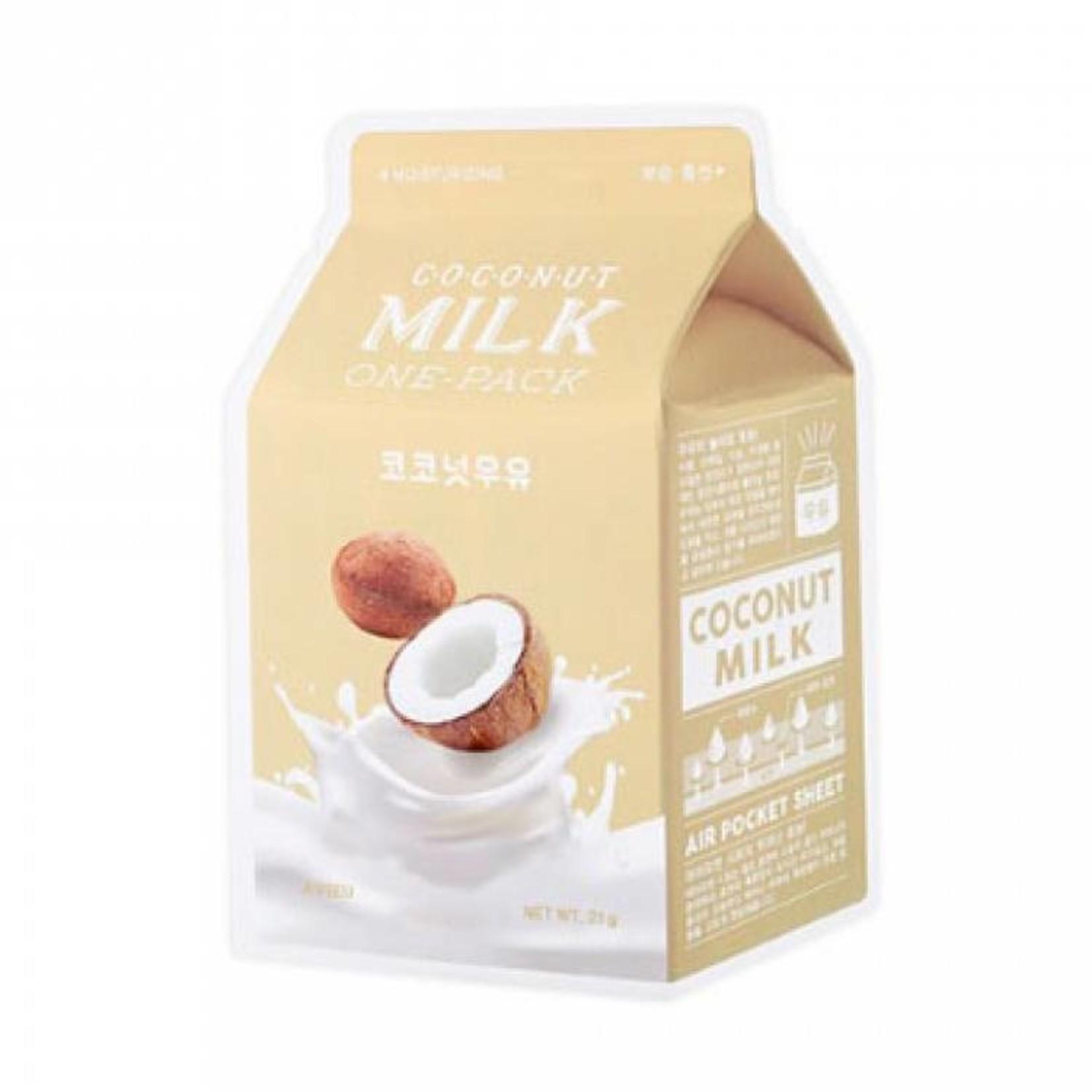 A'pieu Coconut Milk One Pack Mask 10 pcs