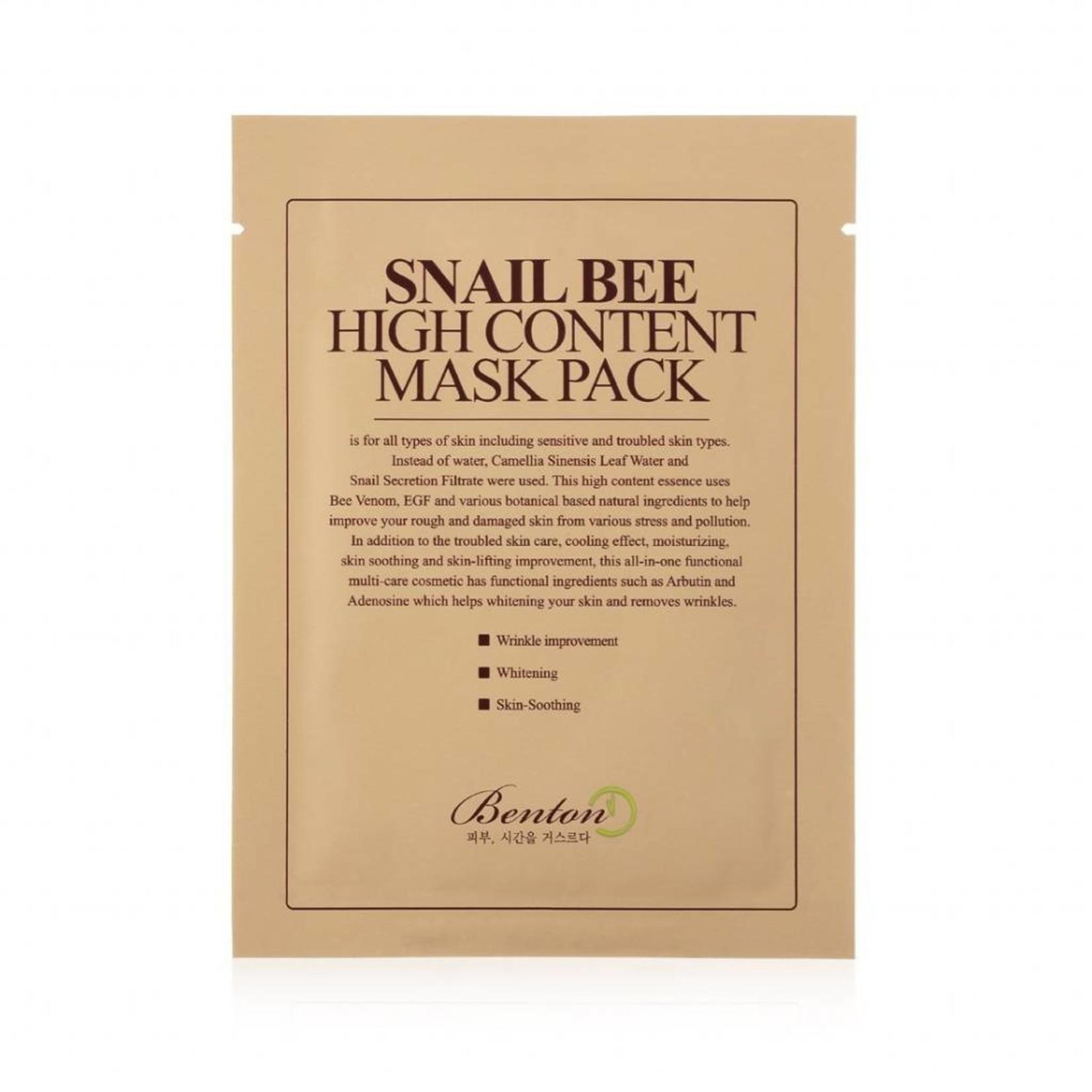 Benton Snail Bee High Content Mask 10 pcs