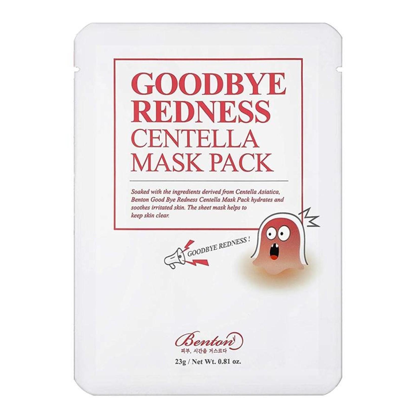 Benton Goodbye Redness Centella Mask Pack 10 pcs