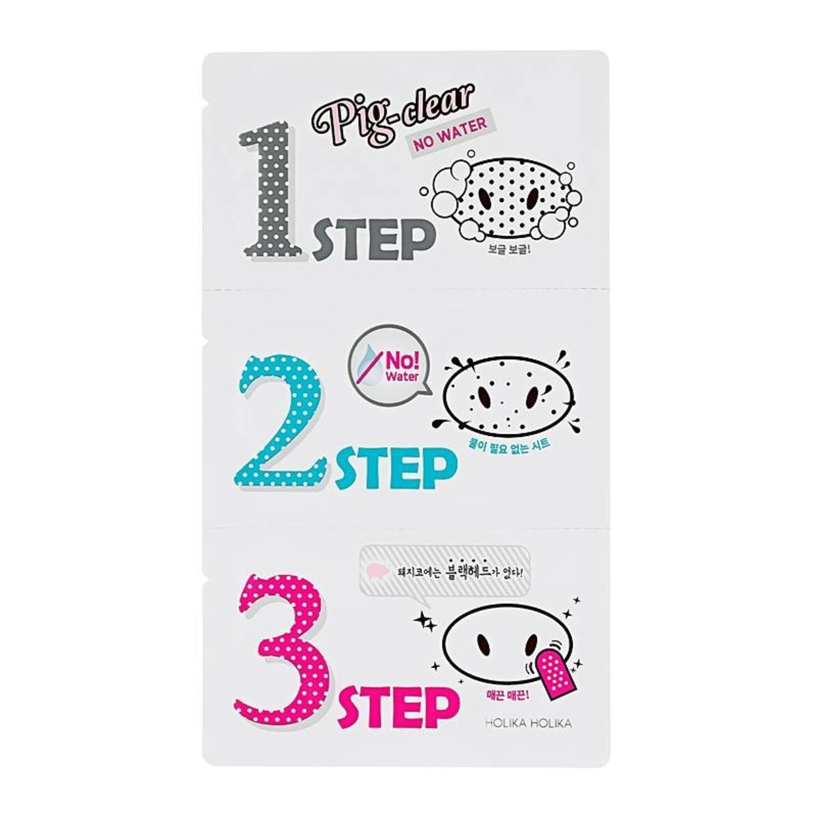Holika Holika Pig Nose Clear Black Head 3 Step Kit No Water 10 pcs