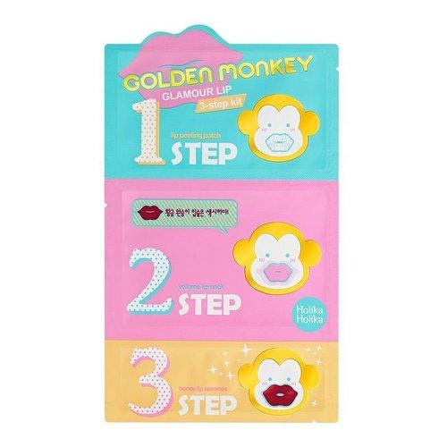 Holika Holika Golden Monkey Glamour Lip 3 Step Kit 10pcs