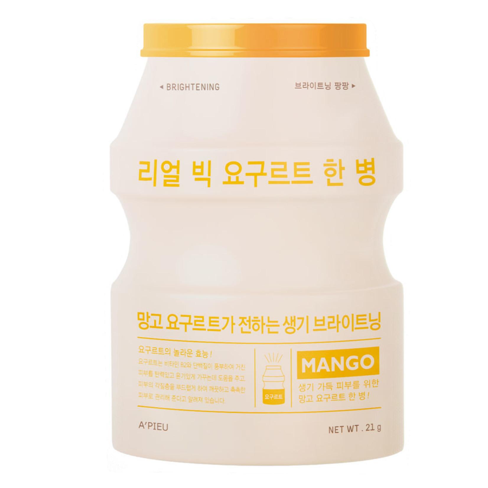 A'pieu Real Big Yoghurt Mango Sheet Mask 10pcs