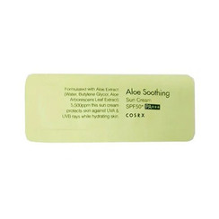 Aloe Soothing Sun Cream SPF50 PA+++ Sample 50pcs