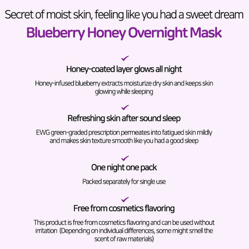 Frudia Blueberry Honey Overnight Mask