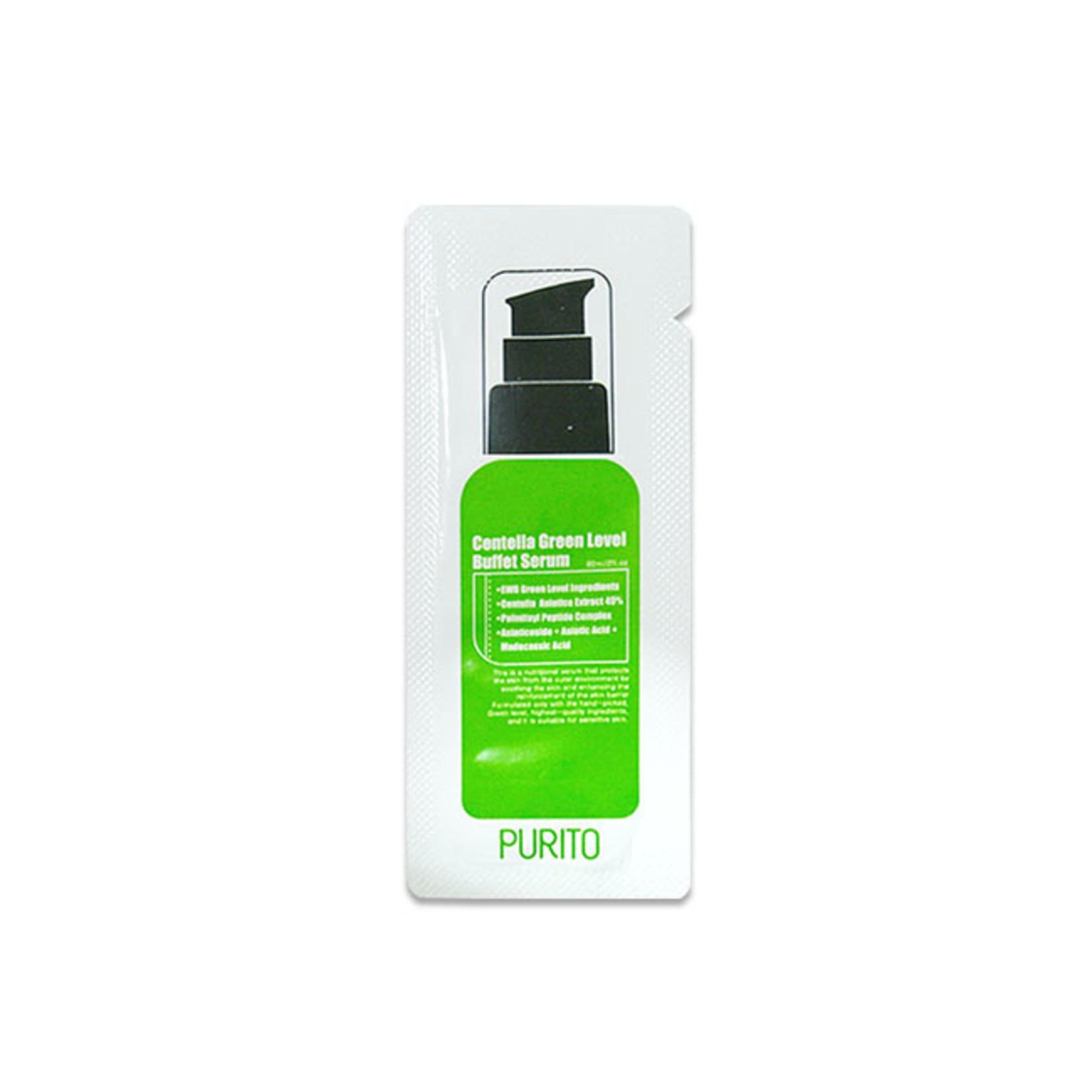 Purito Centella Green Level Buffet Serum Sample 50pcs