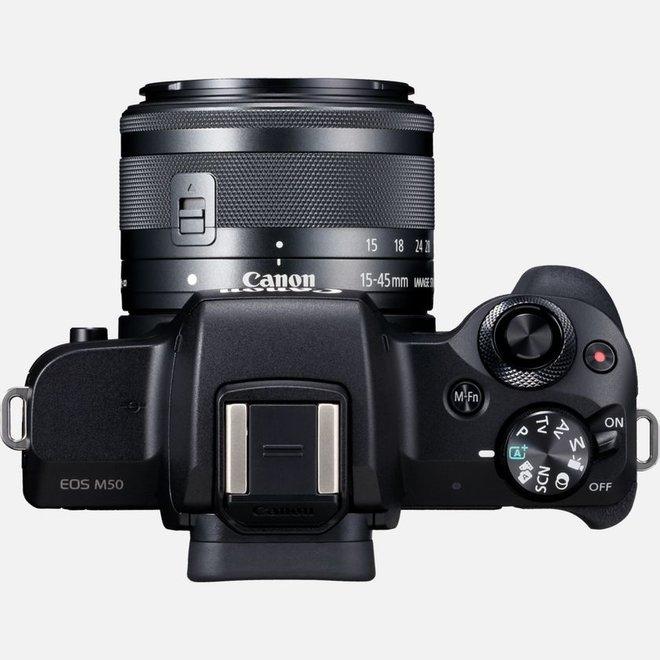 Canon EOS M50 + EF-M 15-45mm Black - Canon Schweiz Partner - CH Produkt