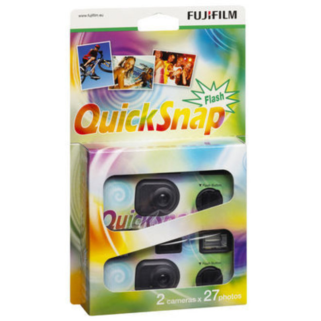 Fujifilm QuickSnap Flash 400 ASA 24+3 Einwegkamera 2er-Pack