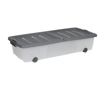 Discountershop Storage box - under bed box - Under bed box 32 liters - 78 cm x 36 cm x17 cm high