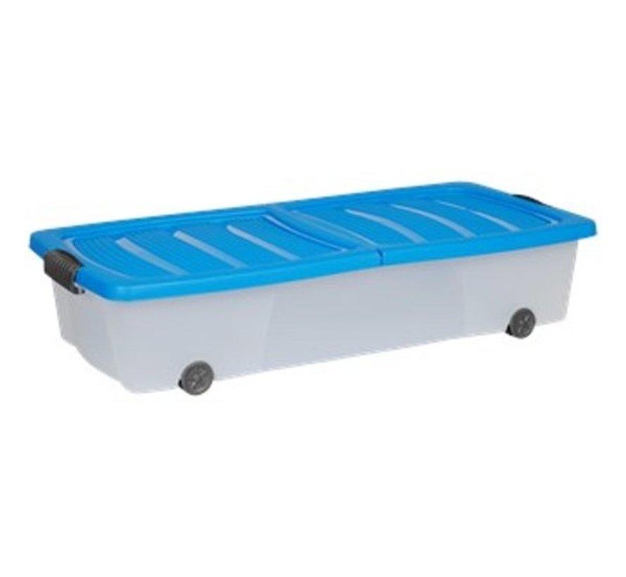 Opbergbox - onderbedbox - Onderbedbox 32 liter- 78 cm x 36 cm x17 cm hoog -