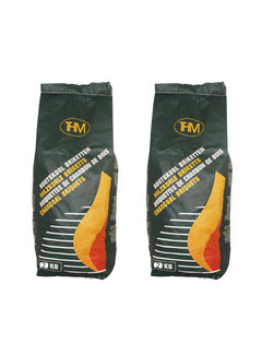 Discountershop 2X charcoal briquettes of 2KG - For The BBQ