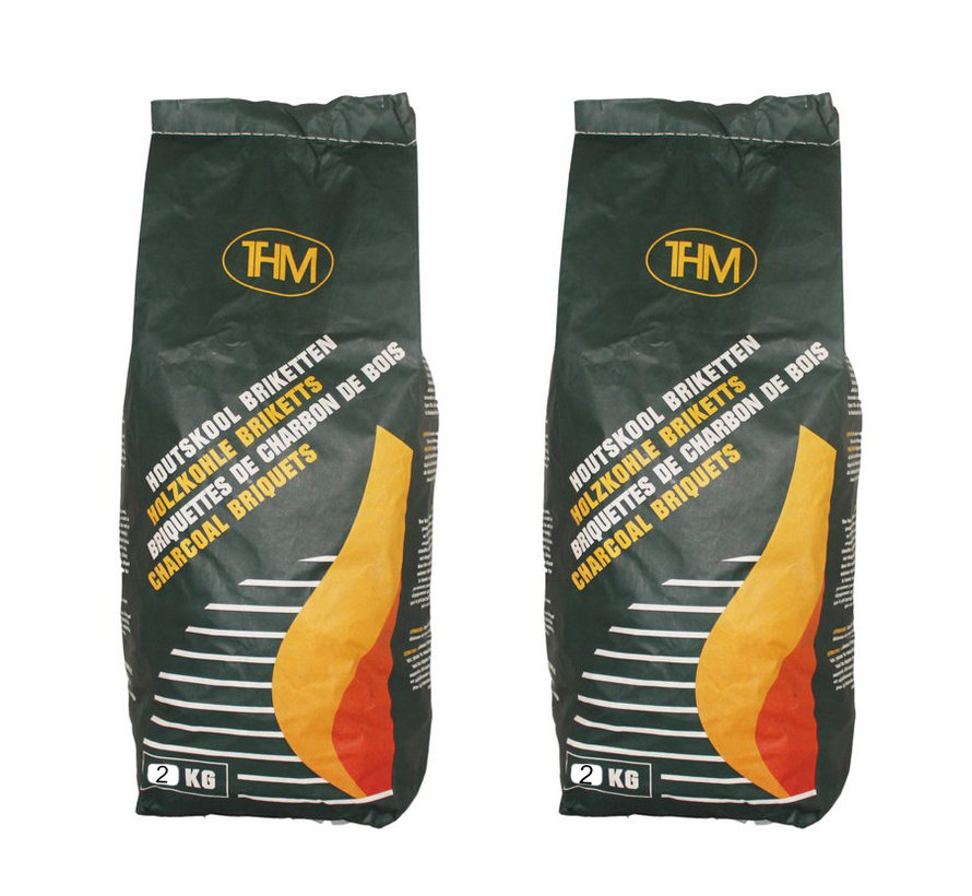 2X charcoal briquettes of 2KG - For The BBQ