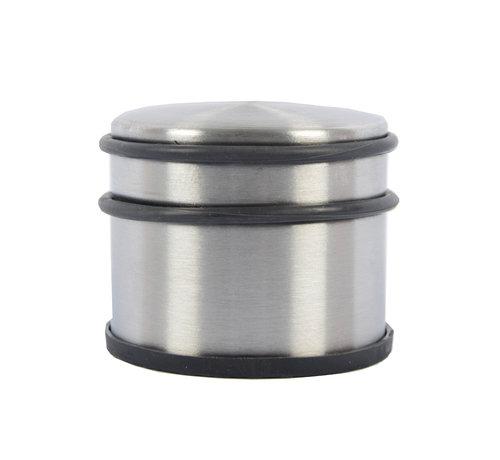 Merkloos 2 Stuks Deurstopper Deurklem - Binnen - Zwart - Deurvastzetter - Deurklemmer 9 cm x 9 cm x 7 cm