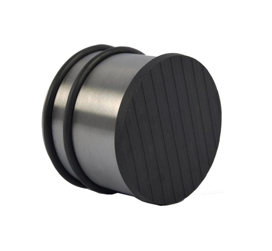 2 Stuks Deurstopper Deurklem - Binnen - Zwart - Deurvastzetter - Deurklemmer 9 cm x 9 cm x 7 cm