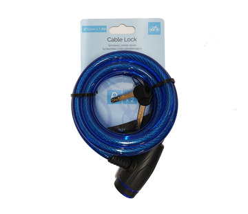 Discountershop Bicycle lock - thick lock 12mm - Bicycle lock for your scooter - blue