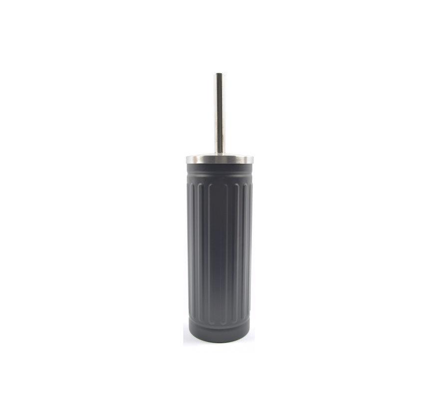 Grijs Onbreekbare Roestvrijstalen Toiletborstelhouder met Toiletborstel - 45x12cm - Mat Grijs