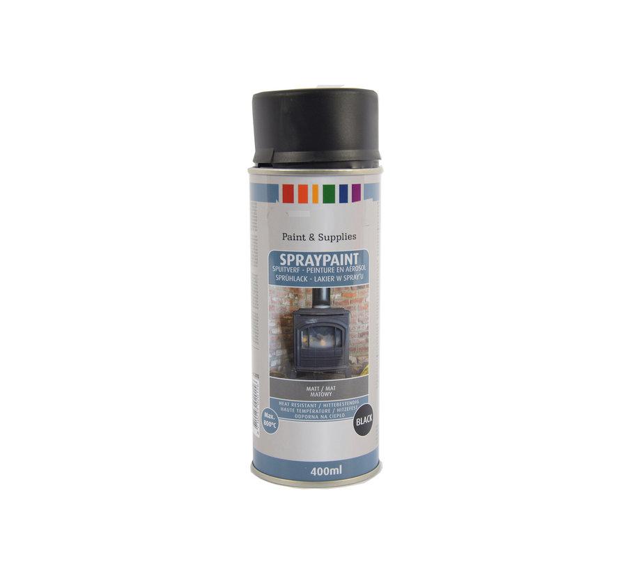 Spray paint | Spray paint | Aerosol | Matte Black | Heat resistant | 400ml