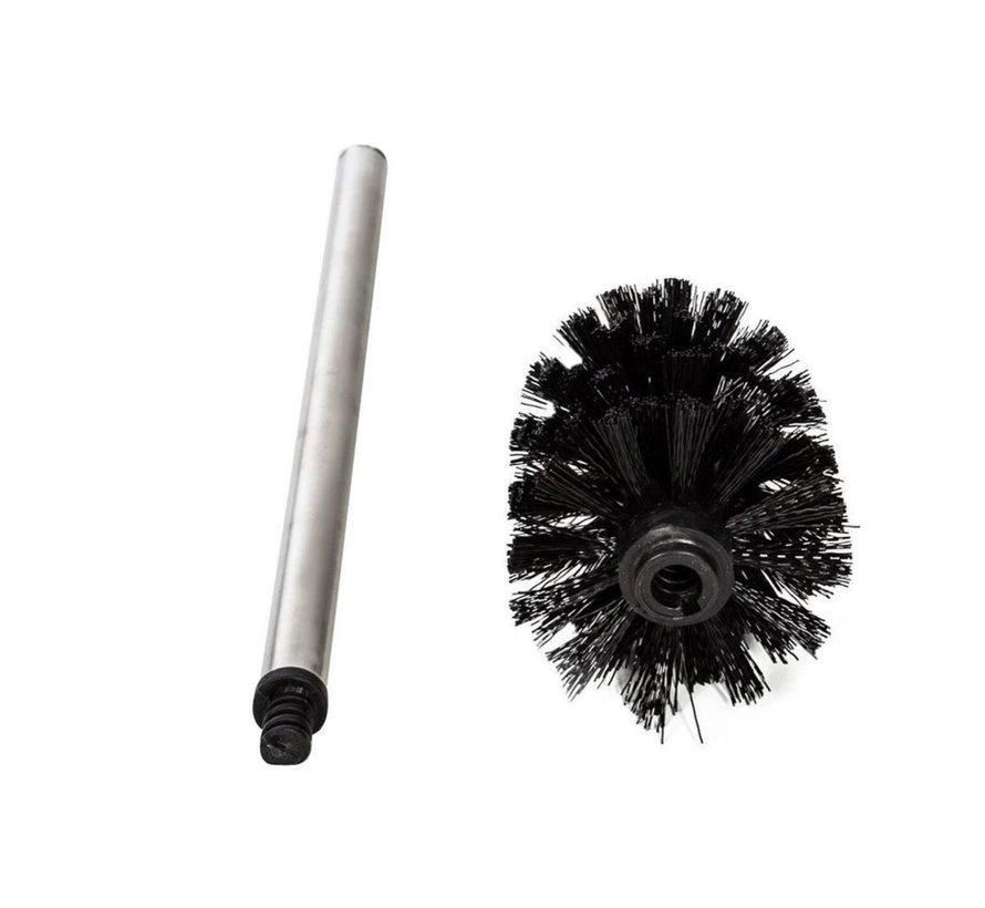 2 x Toilet brushes - Universal Stainless Steel Toilet Brush Set