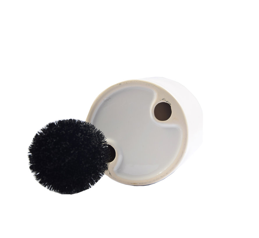 WC Borstel Set Vrijstaand Keramiek met Zwart RVS borstel