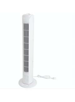 Discountershop Ventilator - torenventilator - torenventilator ventilator zuil wit