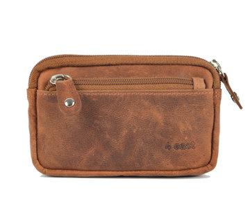 4East Key pouch wallet - wallet pouch - ring wallet - card holder with zipper - zipper wallet - 3 zipper wallet - buffalo leather wallet -