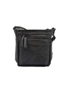 Bicky Bernard Bicky Bernard Shoulder Bag Black with 5 zippers - bag - bags - ladies shoulder bag - handbag - Black shoulder bag - girls shoulder bag -