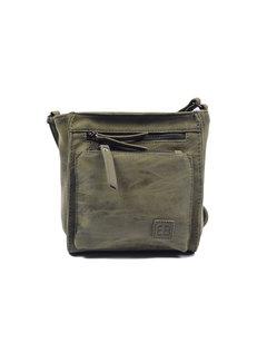 Bicky Bernard Bicky Bernard Shoulder Bag Olive with 5 zippers - bag - bags - ladies shoulder bag - handbag - Olive shoulder bag - girls shoulder bag -