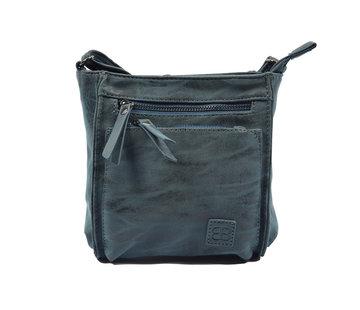 Bicky Bernard Bicky Bernard Shoulder Bag Dark Blue with 5 zippers - bag - bags - shoulder bag ladies - handbag - Dark Blue shoulder bag - shoulder bag girls -